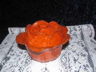 ITALY PV 67293 BURNT ORANGE LIDDED BOWL(S) CABBAGE