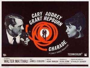 Charade (1963) 30 x 40 Movie Poster, Cary Grant, Audrey Hepburn, UK