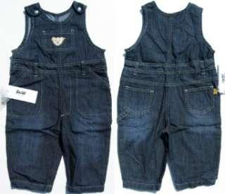 Steiff Hose Latzhose Jeans dark blue Teddy Retro Navy
