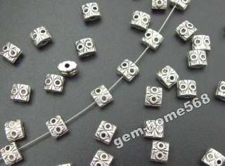 ON SALE70 Bali Style Tibetan Silver 2 Eyed Beads B791