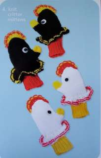 PETTING ZOO, Crochet & Knit Pattern Booklet, NEW, Kids Hats, Mittens