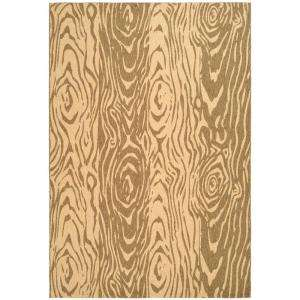 Faux Bois Coffee/Sand 4 ft. x 5 ft. 7 in. Indoor/Outdoor Area Rug