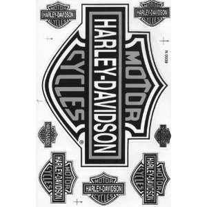 Aufkleber Set  Harley Davidson  silber  Küche & Haushalt