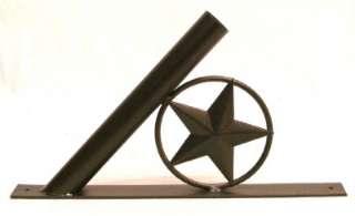 Western Decor Metal Texas Star Flag Pole Bracket Mount ACFH