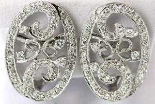 18kt. White Gold Diamond Filigree Earrings