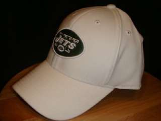 REEBOK NEW YORK JETS TEAM HAT CAP WHITE