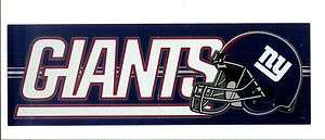 New York Giants Sticker NFL Football Bumper Sticker Decal Rare