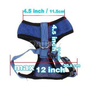 Shipping Dog Pet Soft Mesh Safety Harness Vest Clothes XL Blue