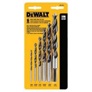 DEWALT Steel Brad Point Drill Bit Set 6 Piece DW1720