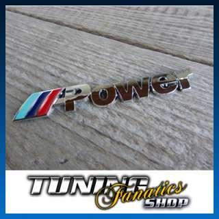Emblem Schriftzug Logo BMW M Power F10 F11 F20 Selbstklebend