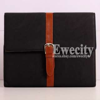 Smart Cool Flip Leather Stand Case Cover For Apple iPad 3 iPad 2 Black