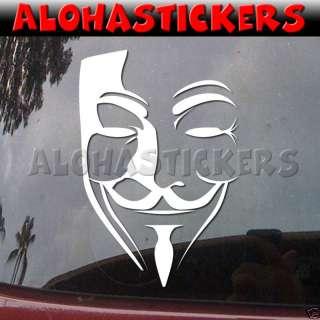 GUY GUIDO FAWKES MASK Vinyl Decal Window Sticker M242