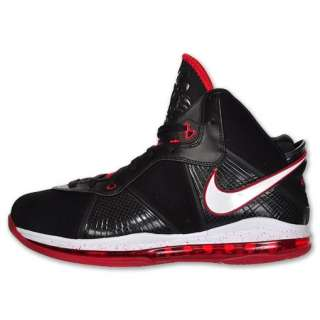 New Nike LeBron VIII Mens Black Red Basketball shoes 417098 002 Size