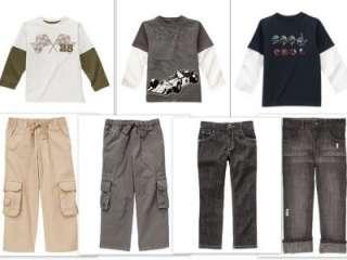 NWT Gymboree TURBO RACER Shirt Black Jeans Pants 5 6 7