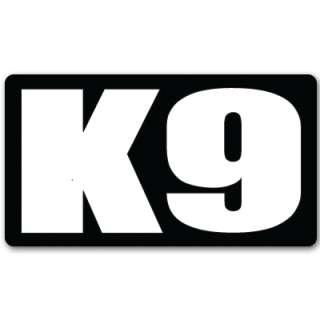 K9 K 9 unit police guard dog car bumper sticker 5 x 3