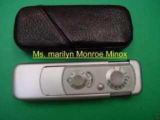MINOX CAMERA + PROOF SHEET, OWNE BY STAR MARILYN MONROE