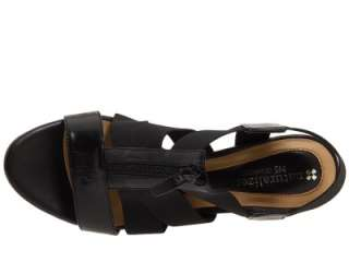 Naturalizer N5 Yazmin Black Stretch Strappy Sandals Heels Shoes Sz 10