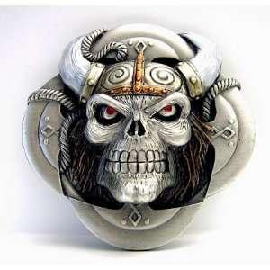 Buckle m. Viking Skull  Wikinger Helm  Odin, Walhalla: .de