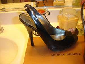 Audrey Brook ABTabbey Tabbey Black Leather Wedding Prom