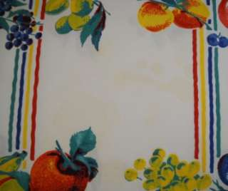 1950S PRINTED COTTON TABLE CLOTH W/BRIGHT FRUITS,51X54