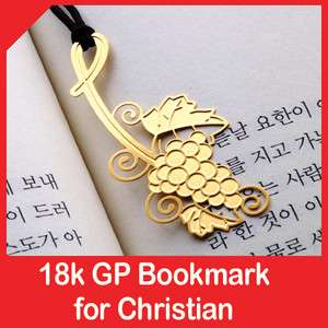 Golden GRAPEVINE christian 18k GP bookmark religious gift item jejus