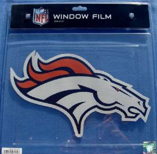 BIG CAR WINDOW FILM DECAL DENVER BRONCOS NFL FOOTBALL