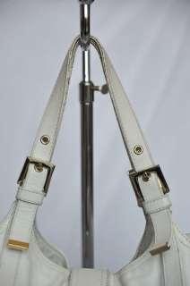 FENDI Cream White Leather Buckle Tote Bag Handbag Purse
