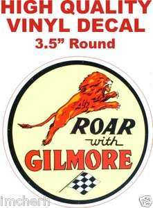 Style Roar With Gilmore Gasoline Oil Gas Pump Decal   The Best