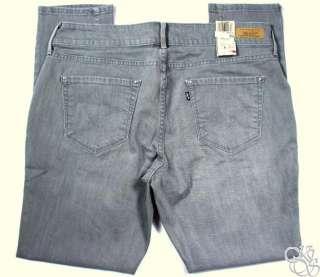 LEVIS JEANS 542 Fits Every Body Skinny Leg Grey Charm Denim Womens