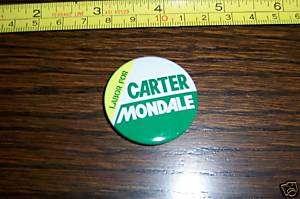 LABOR Jimmy Carter Mondale Campaign Political Pin
