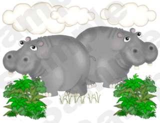 NOAHS ARK ZEBRA GIRAFFE MONKEY ELEPHANT MURAL NURSERY BABY WALL