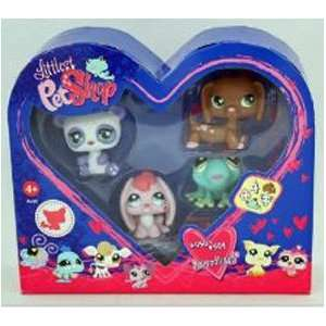 Littlest Pet Shop   Valentine Set   4 Pack mit Herz Bemalung   Dackel