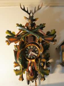 Vintage German Cuckoo Clock Hunter Style Cookoo 23H x 16W