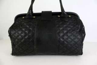 Big Aqua Madonna Quilted Leather Huge Stam Bag Purse