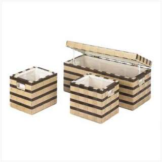PLANTATION TRUNK BASKETS Storage Bench Home Decor NEW