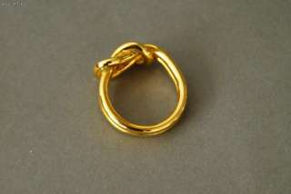 Authentic HERMES Goldtone Knot Scarf Ring