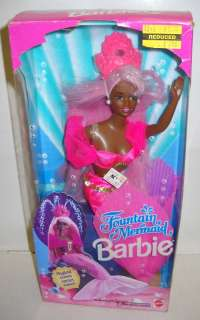 1879 NRFB Fountain Mermaid Barbie African American