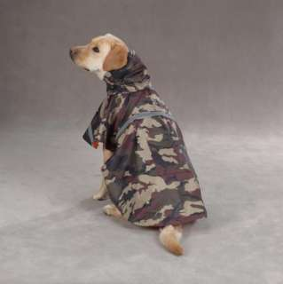 Dog Green Camo Guardian Gear RAIN JACKET RainCoat