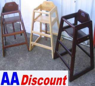 NEW 2 PACK WOODEN HIGH CHAIR MAHOGANY STACKABLE HICHAIR