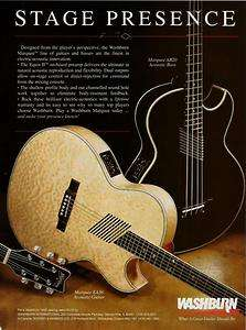 1992 DESIGNED FOR THE PLAYER MARQUEE EA36 & AB20 WASHBURN GUITARS AD