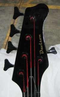 BLACK 5 STRING ELECTRIC BASS GUITAR DAVISON SALE FACTORY 2ND