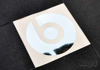 2x) 4 Beats by Dre Metallic Silver Die Cut Decal Sticker metallized