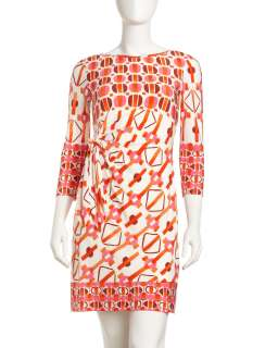 Donna Morgan Jersey Geometric Print Dress