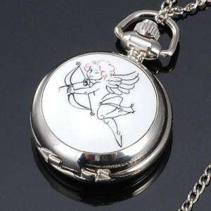 Cupid LOVE Necklace Pocket Watch BEST GIFT for LOVERS