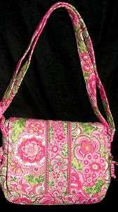 VERA BRADLEY PETAL PINK LINDSAY SLING BAG MESSENGER PURSE HOBO WOMENS