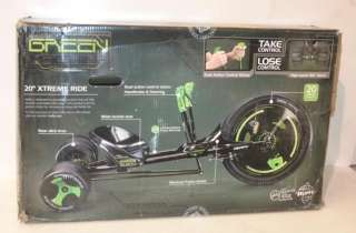 HUFFY Black Out Green Machine Tri Wheel Bicycle / Bike 98202A