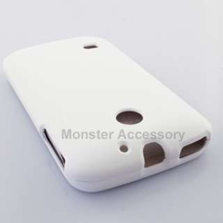 White Rubberized Hard Cover Case Huawei Ascend 2 M865