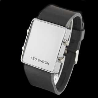 LED Watch With Soft Silicone Band Digital Movement Wrist Watch Watches
