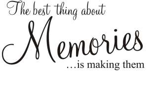 Memories wall art sticker quote LARGE