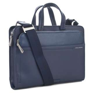 PIQUADRO SUN Slim Briefcase iPad Holder Blue Leather CA2685S36 Italian